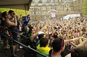 Performing in the Quad during Spring Fling my freshman year.