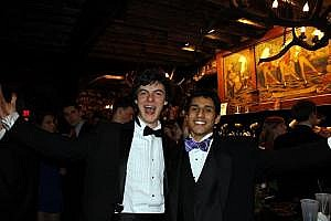 Goofing off at Charity Ball with Wyatt Shapiro, one of my first friends at Penn.