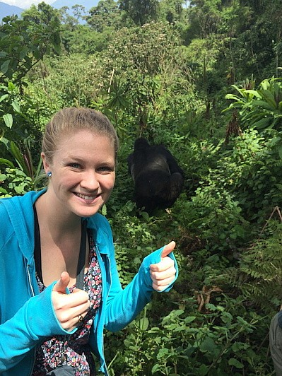 I was pretty excited to spot a wild gorilla!
