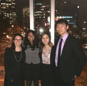 My team at the congratulatory dinner in Atlanta