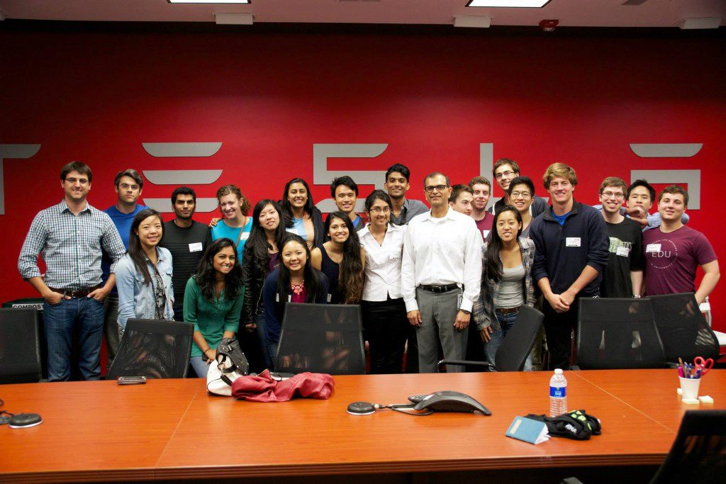 Penn Tech Trek members visit Tesla Motors
