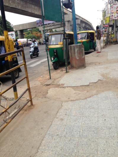 Rickshaws lined up in Bangalore, India.