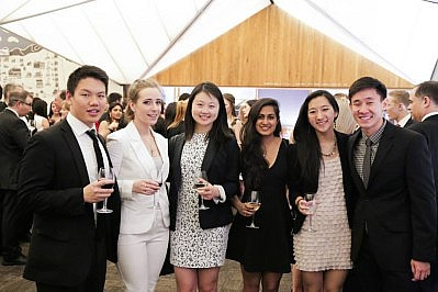 Team Wharton with two McGill University students (left)